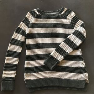 Natural Reflections striped sweater.
